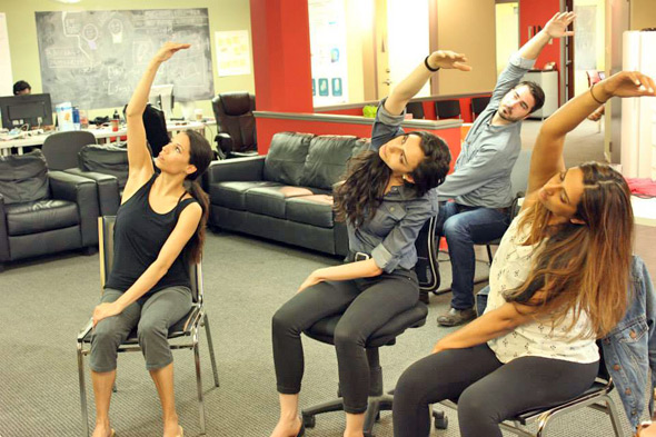 Toronto now has office chair yoga