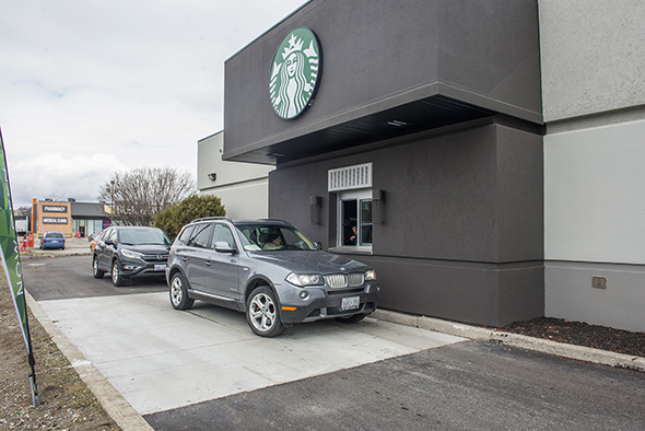 events in toronto you can now get starbucks at a drive thru in toronto