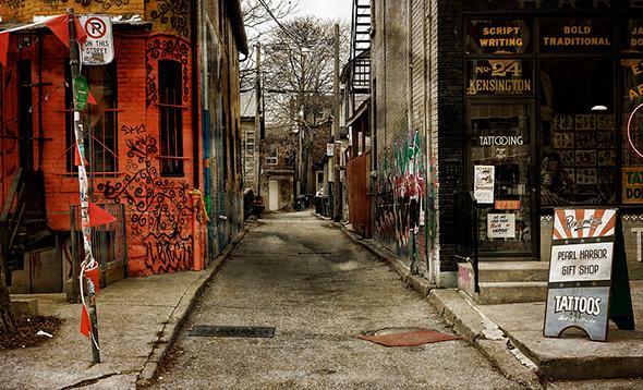 toronto alleyway