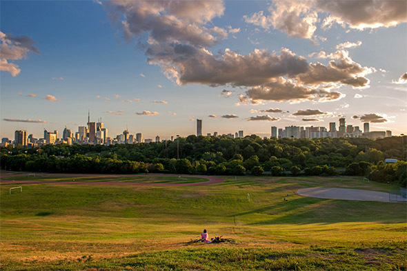 riverdale park skyline toronto