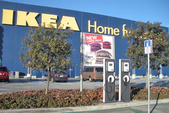 Toronto getting influx of electric car charging stations for Ikea ontario canada
