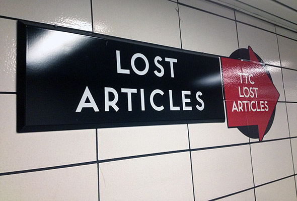 ttc lost articles