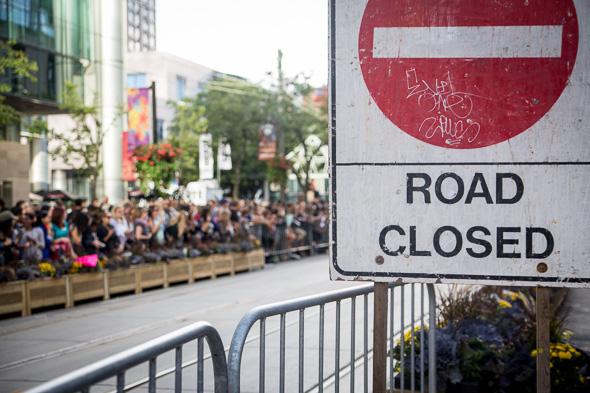 toronto road closures