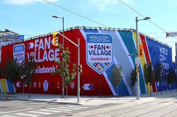 World cup of hockey an village Toronto