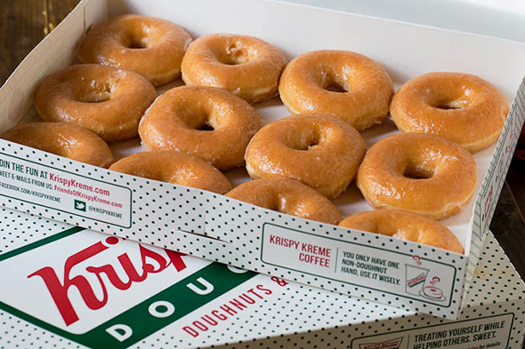 things in life are free, especially when they're Krispy Kreme donuts ...