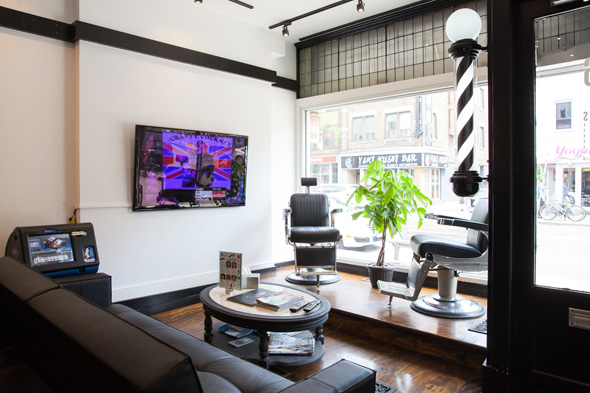 Man Cave Barber Vaughan : Mancave barbers lounge to toronto