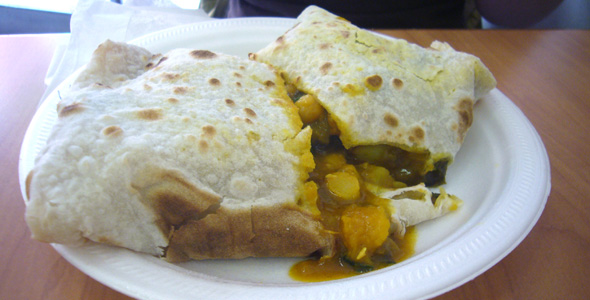 Mixed Vegetable Roti