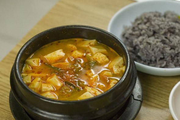 Oyster tofu stew