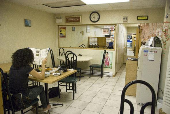 Interior of Traditional Korean Restaurant
