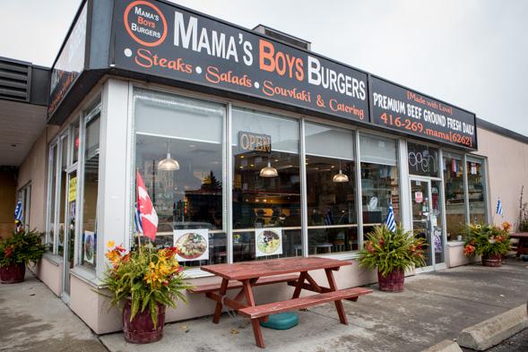 Mamas Boys Burgers Toronto