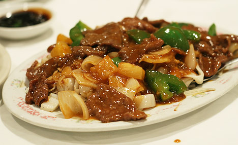 Beef Rice Noodle with Satay Sauce