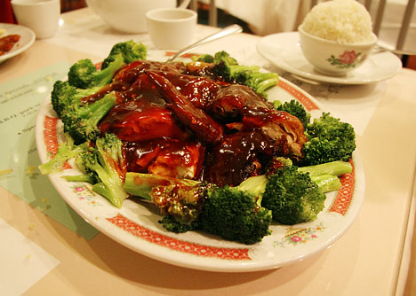 Peking Duck with Broccoli