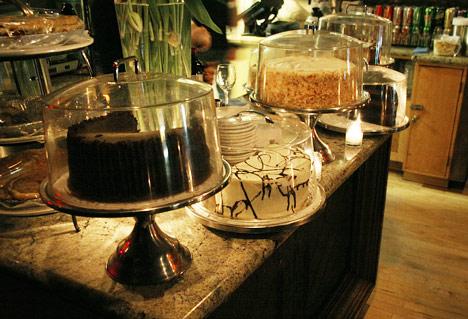 The dessert counter