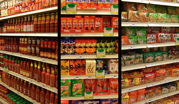 Hot Sauces, Pockys, and Instant Noodles
