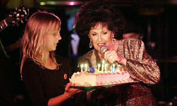 Wanda and her surprise birthday cake...