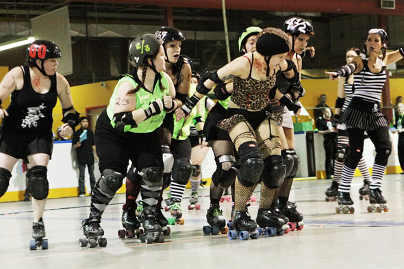 Gore-Gore Rollergirls Hold Back the Pack