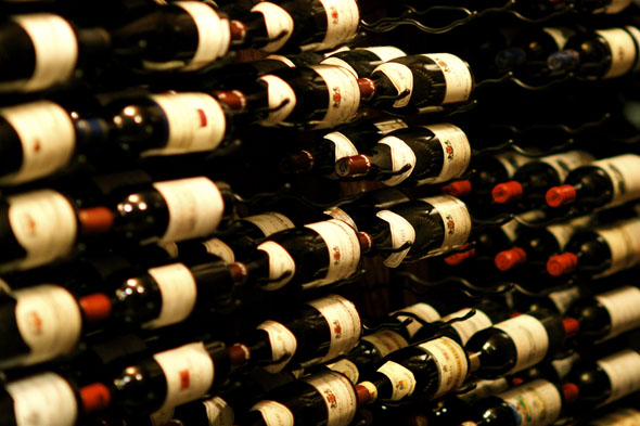 The wine cellar at the Windsor Arms Hotel
