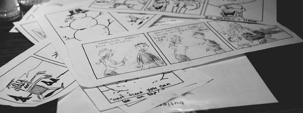 Pile of insta-comics