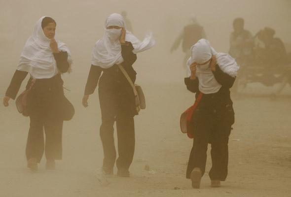 Schoolgirls wearing hijabs