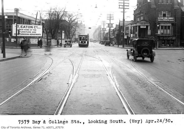 Bay and College - 1930