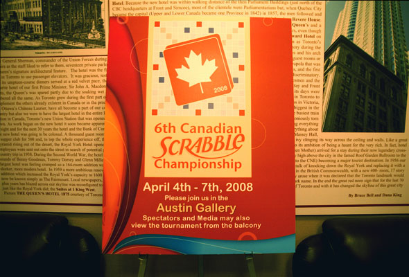 Canadian National Scrabble Championships in Toronto