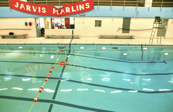 Students protest proposed swimming pool closures for Fairbank swimming pool toronto