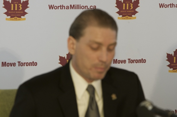 Bob Kinnear TTC strike press conference