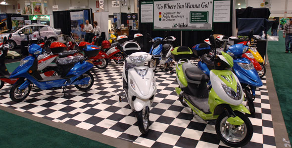 Electric Bikes at Green Living Show
