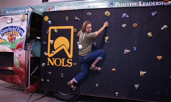 NOLS bus at The Green Living Show in Toronto