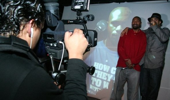 Sol Guy and Brazilian rapper-activist MV Bill