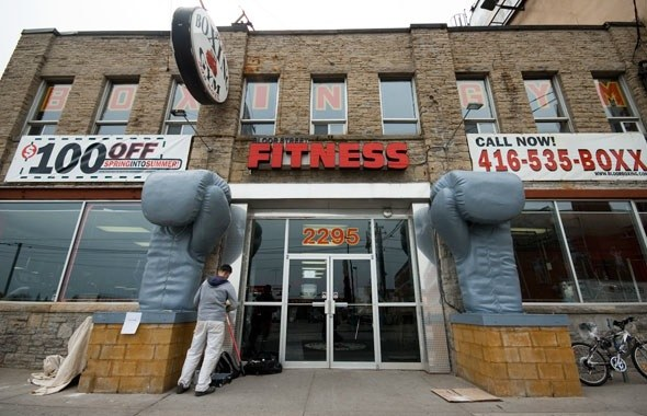 Grey Gloves at Bloor Street Fitness