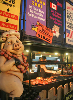 Pig on Display at Ribfest