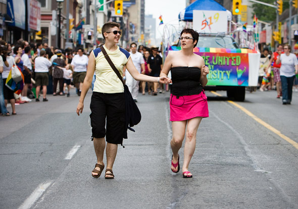 Dyke March along Yonge St