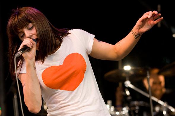 Melanie C on stage at Pride Toronto