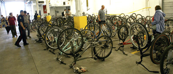 Bicycles recovered from Igor's Bike Clinic on display at Toronto Police open house