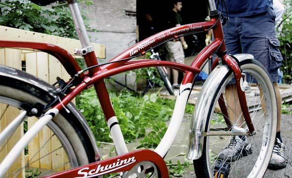 Tim Hortons Schwinn bike recovered from a Parkdale garage, among stolen bikes