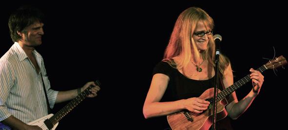 Kurt Swinghammer and Andrea Koziol at the Kate Bush Tribute night in Toronto