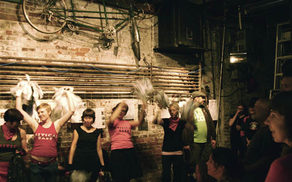 Dandyhorse launch party gets lively with Critical Sass cheerleaders