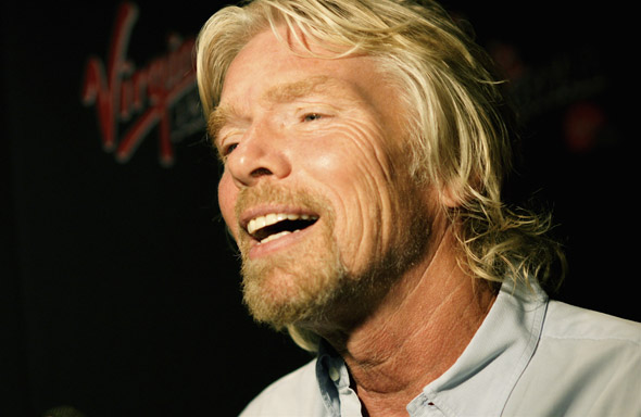 Richard Branson meets the media at the Virgin Music Festival in Toronto