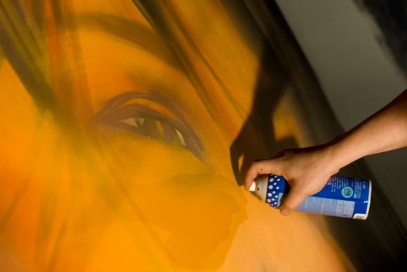 Tagaq spray painted