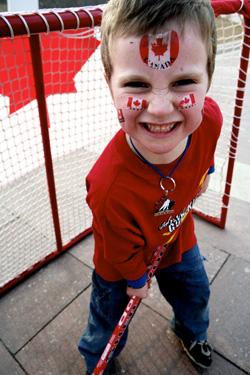 Street Hockey kid in Torino