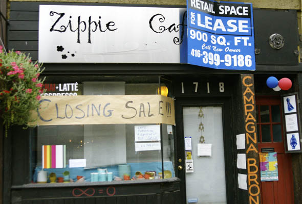 The Zippie Cafe in Parkdale closes its doors