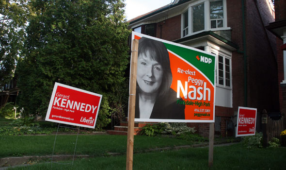 Peggy Nash Gerrad Kenedy Yard Signs