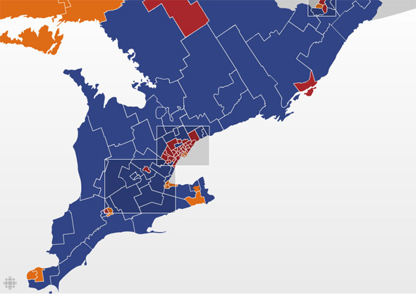 southern ontario federal election results 2008