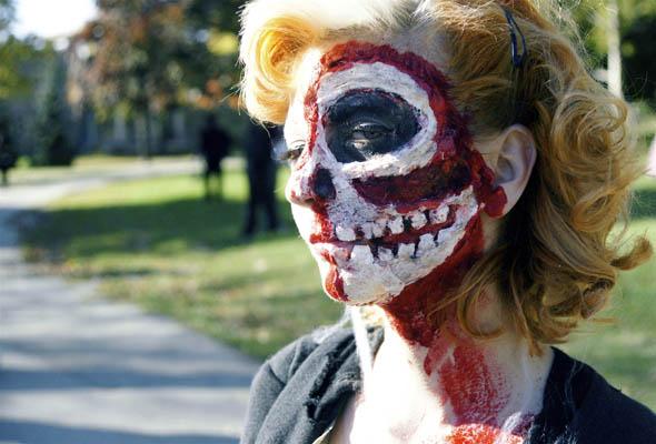 Toronto Zombie Walk 2008 organizer Thea Munster