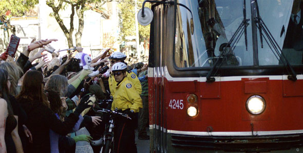 Toronto Zombie Walk 2008 welcomes a TTC streetcar