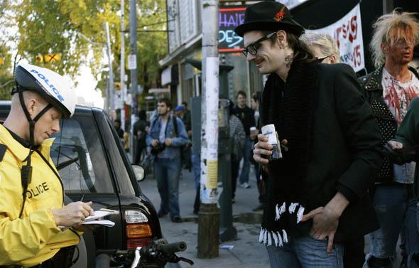 Toronto Zombie Walk 2008 arrest for drinking in public