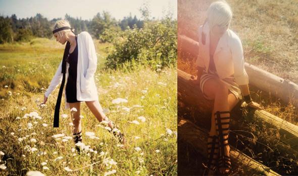 Mellinda-Mae Harlingten's Spring Summer 2009 collection at Toronto Fashion Week