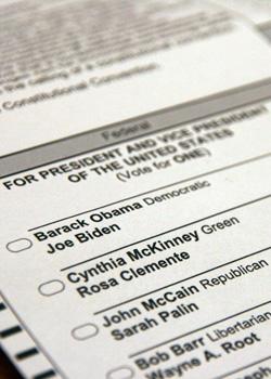 US Election Ballot