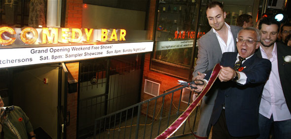 Joe Pantalone helps launch grand opening of The Comedy Bar in Toronto